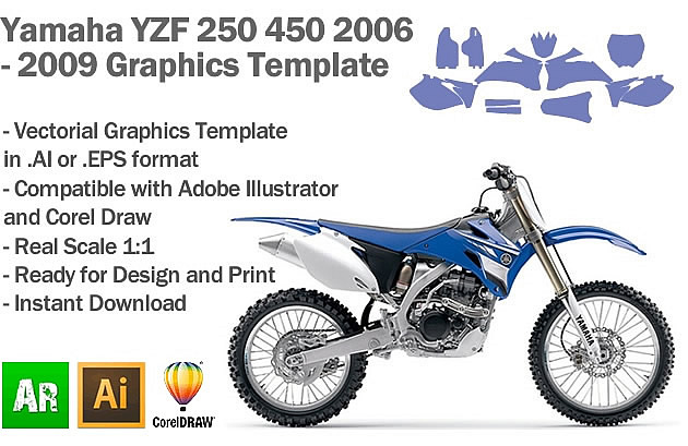 yamaha yzf 250 450 mx motocross 2006 2007 2008 2009 graphics template artabrian motocross mx. Black Bedroom Furniture Sets. Home Design Ideas